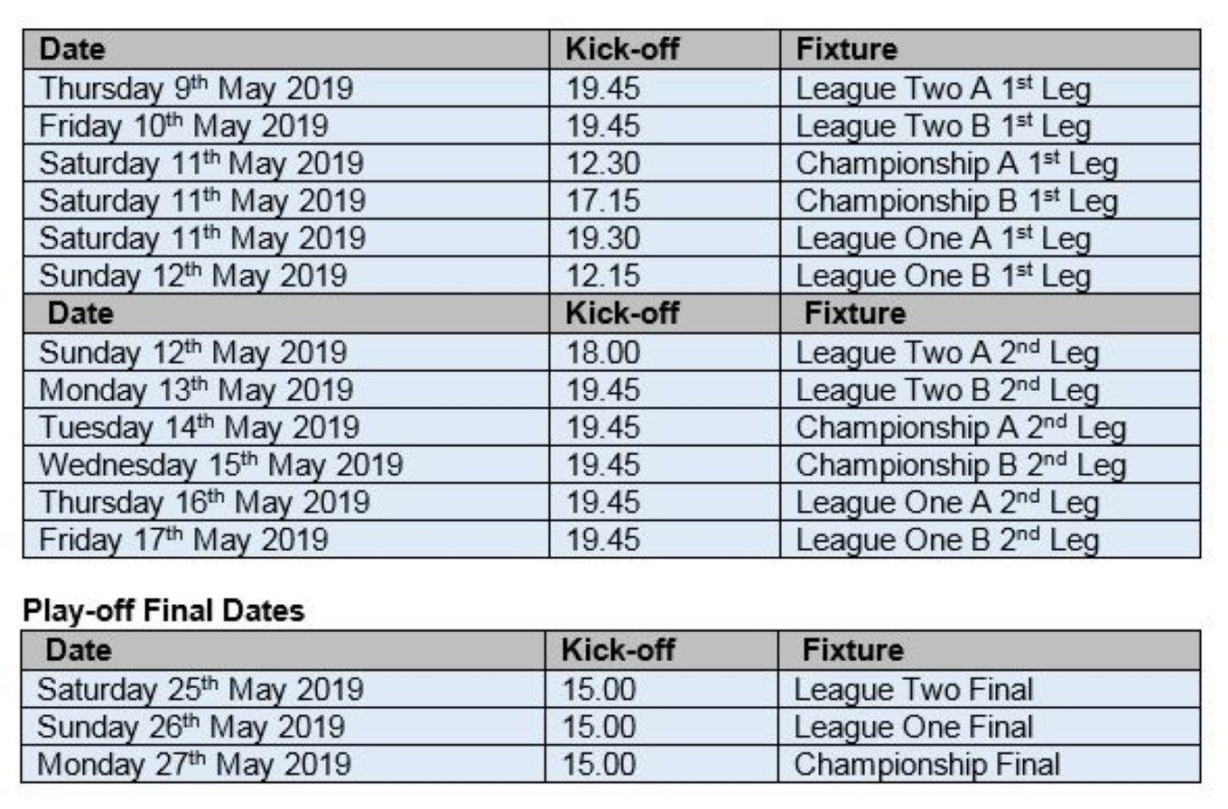 Play-Off Dates Confirmed - News - Colchester United